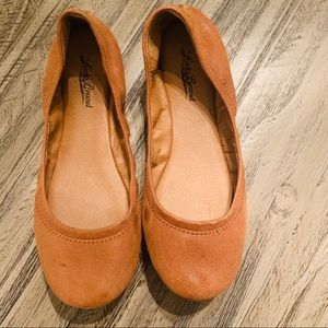 Lucky Brand Ballet Flats Brown Leather Size 7